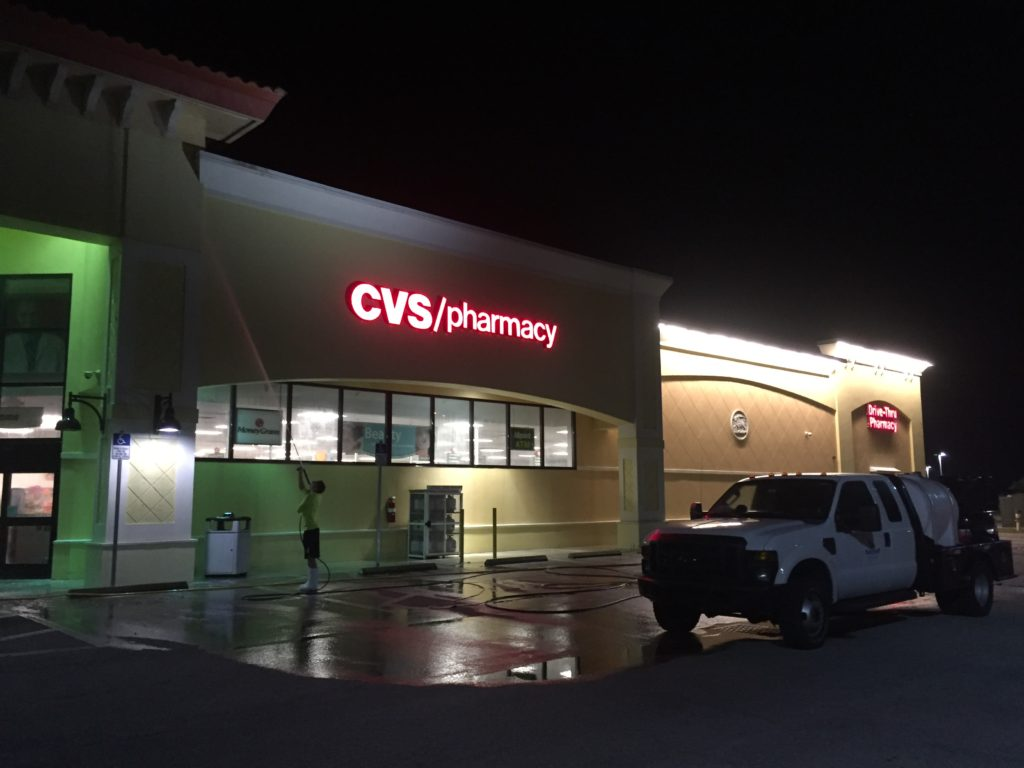 Suncoast Roof Cleaning a CVS in Sarasota
