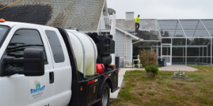 Shingle roof cleaning in Sarasota County by Suncoast Roof Cleaning