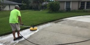 Suncoast Roof Cleaning in Sarasota driveway cleaning
